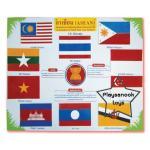 SKAEC-01 แผ่นป้ายธงอาเซียน