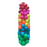 UT-5907 ลูกบอลพลาสติก หลากสี 100 ลูก