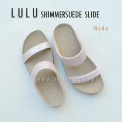 **พร้อมส่ง** FitFlop Lulu Shimmersuede Slide : Nude : Size US 5 / EU 36