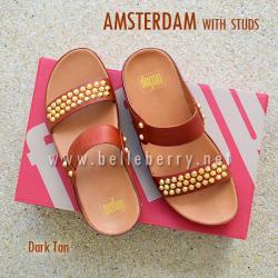 SALE :: US 8 : Amsterdam Studs : Dark Tan : Size US 8 / EU 39