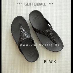 * NEW * FitFlop : GLITTERBALL : Black : Size US 8 / EU 39