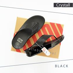 FitFlop : CRYSTALL : Black : Size US 7 / EU 38