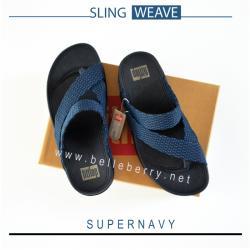 FitFlop : SLING WEAVE : Supernavy : Size US 12 / EU 45