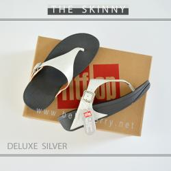 FitFlop The Skinny Deluxe : Silver : Size US 5 / EU 36