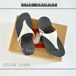 FitFlop The Skinny Deluxe : Silver : Size US 7 / EU 38
