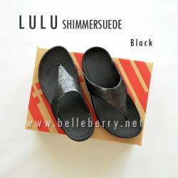FitFlop LULU Shimmersuede : Black : Size US 8 / EU 39