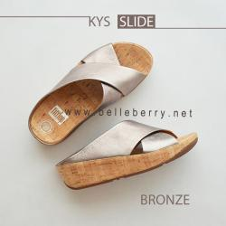 FitFlop : KYS Slide : Bronze : Size US 8 / EU 39