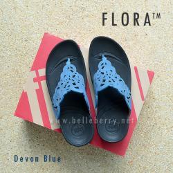 **พร้อมส่ง** รองเท้า FitFlop FLORA : Devon Blue : Size US 6 / EU 37