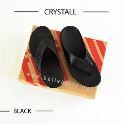 * NEW * FitFlop : CRYSTALL : Black : Size US 8 / EU 39