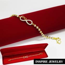 Inspire Jewelry Brand สร้อยข้อมือเม็ดอิตาลี3 มิติ ขนาด 4min ต่อลายกับ infinity งานเพชร CZ แท้ ราคาเบาๆ เพชรวิ้งเจิดจรัสที่สุดในสามโลก งานเพชรฝังค่ะ ไม่ใช่เพชรติดกาว ใส่ได้ตลอดเรียบหรูดูดี ความยาว 17cm.