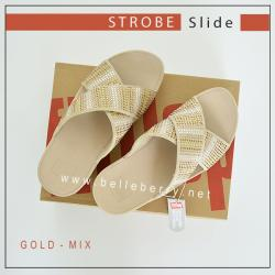 FITFLOP : Strobe Slide : Gold Mix : US 5 / EU 36