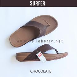 FitFlop Men's : SURFER : Chocolate Brown : Size US 09 / EU 42