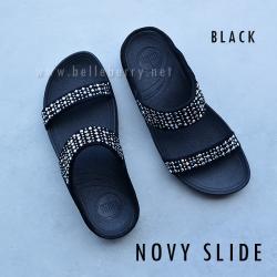 **พร้อมส่ง** FitFlop : NOVY Slide : Black : Size US 8 / EU 39