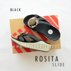 * NEW * FitFlop ROSITA Slide : Black : Size US 5 / EU 36