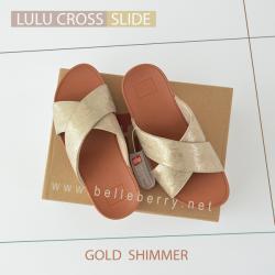 * NEW * FitFlop : Lulu Cross Slide : Gold : Size US 5 / EU 36