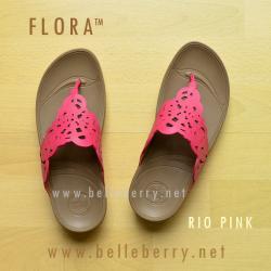 **พร้อมส่ง** รองเท้า FitFlop FLORA : Rio Pink : Size US 6 / EU 37