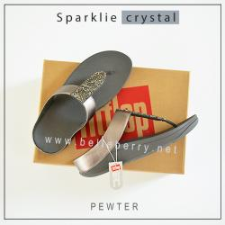 FitFlop : Sparklie Crystal : Pewter : Size US 8 / EU 39