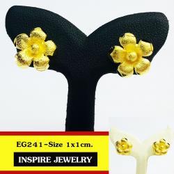 Inspire Jewelry ต่างหูทองรูปดอกไม้