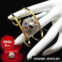 Inspire Jewelry กำไลหยินหยาง หรือยันต์แปดทิศ ฝังด้วยพลอยนพเก้า และเพชรสวิส งานจิวเวลลี่ สวยงาม ปราณีต ชุบเศษทองแท้ ฟรีไซด์ เครื่องประดับมงคล หมายถึง อำนาจที่มีบทบาทต่อกันของจักรวาลนักปราชญ์ ชาวจีนเชื่อว่า หยิน-หยาง ... ดังนั้น สัญลักษณ์หยิน-หยาง จึงแทนควา