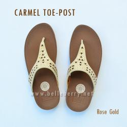 FitFlop : CARMEL Toe-Post : Rose Gold : Size US 5 / EU 36