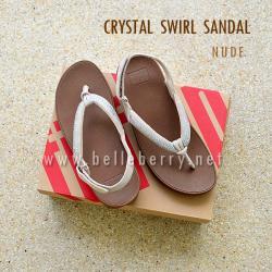 **พร้อมส่ง** FitFlop : CRYSTAL SWIRL Sandal : Nude : Size US 6 / EU 37