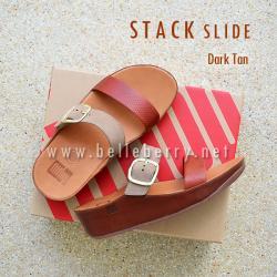 **พร้อมส่ง** FitFlop Stack Slide : Dark Tan : Size US 7 / EU 38
