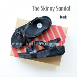 * NEW * FitFlop The Skinny Sandal : Black : Size US 6 / EU 37