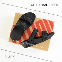* NEW * FitFlop : GLITTERBALL Slide : Black : Size US 6 / EU 37