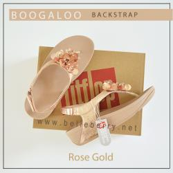 FitFlop : Boogaloo Back-Strap : Rose Gold : Size US 5 / EU 36