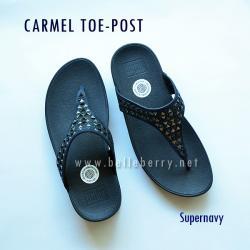 **พร้อมส่ง** FitFlop : CARMEL Toe-Post : Supernavy : Size US 7 / EU 38