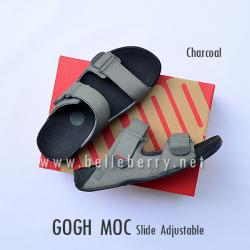 * NEW * FitFlop Men's : GOGH MOC Slide : Charcoal : Size US 08 / EU 41