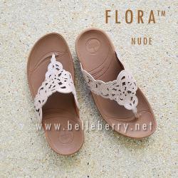 รองเท้า FitFlop FLORA Sparkle : Nude : Size US 8 / EU 39