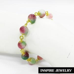 Inspire Jewelry ,สร้อยข้อมือหินฮกลกซิ่ว ร้อยรอบข้อมือด้วยอะไหล่ทองเหลือง เป็นเครื่องประดับมงคลอย่างมาก นำโชค เสริมดวง