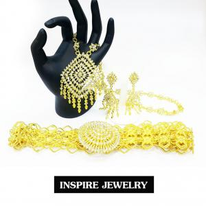 Inspire Jewelry ชุดเซ็ทสร้อยคอและต่างหูและเข็มขัด ลายตามที่โชว์ ลายโบราณ อนุรักษ์ไทย สวยงามมาก ปราณีต ใส่กับเสื้อผ้าไทย ชุดไทย ผ้าสไบ หรือใส่ประดับ ผ้าซิ่น ผ้าถุง ผ้าไหม ตามรอยละครบุพเพสันนิวาส หนึ่งด้าว แม่การะเกตุ แม่แมงเม่า