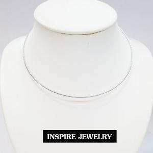 inspire jewelry โชคเกอร์คอ CH01-สีเงินกลมขัดมัน
