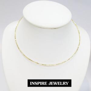 inspire jewelry โชคเกอร์คอ CH01-สีทองกลมตัดลายวิ้งๆ