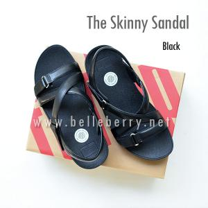 * NEW * FitFlop The Skinny Sandal : Black : Size US 5 / EU 36