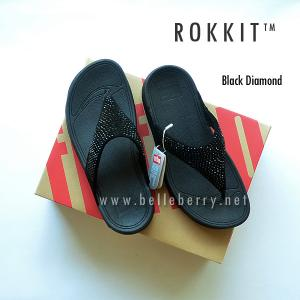 * NEW * FitFlop : ROKKIT : Black Diamond : Size US 9 / EU 41