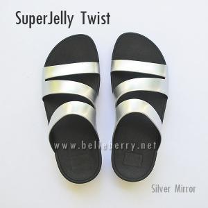 **พร้อมส่ง** FitFlop SUPERJELLY TWIST : Silver Mirror : Size US 6 / EU 37
