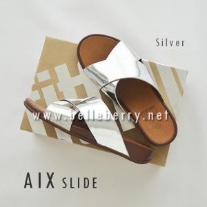 * NEW * FitFlop AIX Slide : Silver : Size US 7 / EU 38