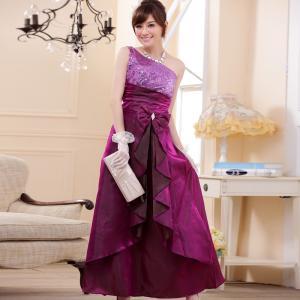 ♥พร้อมส่ง♥ ชุดราตรียาวไซส์ใหญ่ สีม่วง XL อก 35-40