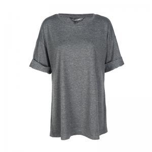 เสื้อยืดสีเทา คอกลม แขนสั้น เรียบง่ายใส่สบาย (US14,US16,US18,US20)