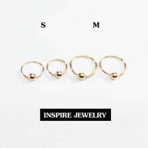 Inspire Jewelry ,ต่างหูห่วงทองชมพู มีสองขนาดให้เลือก พิเศษสำหรับเด็กใส่ได้ สำหรับคนพิเศษ ใส่เอง เป็นของขวัญของฝาก วาเลนไทน์ วันเกิด ตรุษจีนฯลฯ