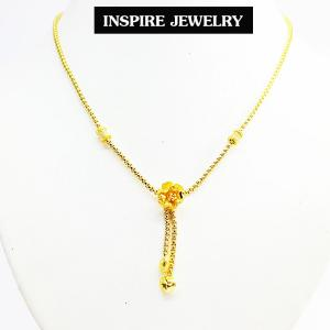 Inspire Jewelry สร้อยคอสังวาลย์ทองดอกไม้ และถุงกำมะหยี่