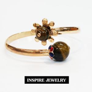 Inspire Jewelry ,กำไลหินตาเสือ มีให้เลือก ตัวเรือนหุ้มทองแท้ 100% 24K ลงยา ฟรีไซด์ นำโชค เสริมดวง โชคลาภ พร้อมถุงกำมะหยี่