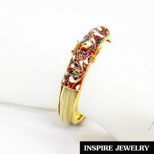 Inspire Jewelry ,กำไลหางช้าง ชุบทอง100% 24K งานลงยาคุณภาพ เป็นเครื่องประดับมงคลอย่างมาก นำโชค เสริมดวง เสริมอำนาจวาสนา ป้องกันสิ่งอัปมงคล