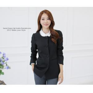♥พร้อมส่ง♥ เสื้อสูทสไตล์เกาหลี สีดำ ไซส์ 3XL (อก 48) JK~9520