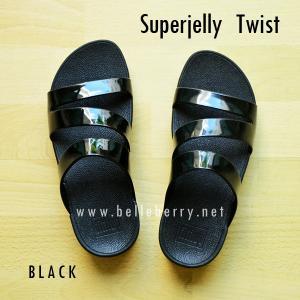 **พร้อมส่ง** FitFlop SUPERJELLY TWIST : Black : Size US 5 / EU 36
