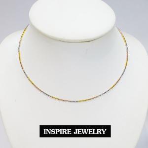 inspire jewelry โชคเกอร์คอ CH01-3กษัิตริย์แบบสปริงตัดลายวิ้งๆ