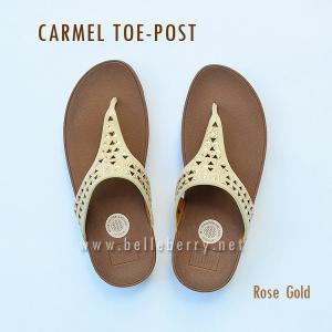 **พร้อมส่ง** FitFlop : CARMEL Toe-Post : Rose Gold : Size US 5 / EU 36